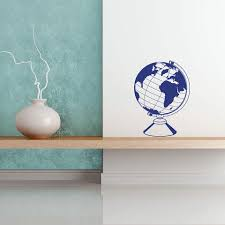Globe Wall Decal Style And Apply