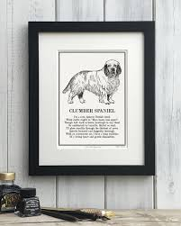 clumber spaniel gift personalised
