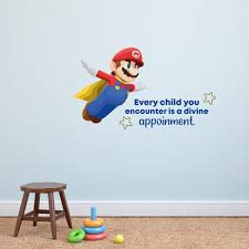 Every Child Super Mario Life Quote Cartoon Quotes Decors Wall Sticker Art Design Decal For Girls Boys Kids Room Bedroom Nursery Kindergarten Home Decor Stickers Wall Art Vinyl Decoration 20x40 Inch