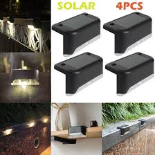 Shop 4pcs Led Warm White Solar Pathstair Outdoor Light Garden Yard Fence Wall Lamp Online From Best Smart Light Bulbs On Jd Com Global Site Joybuy Com