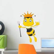 Queen Bee Cartoon Wall Decal Wallmonkeys Com