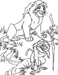 Lion King Kleurplaten Lion King Kleurplaat Leeuwenkoning