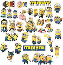 Amazon Com Minion Stickers Waterproof Vinyl 36 Pack Of Peel And Stick Minions Stickers Wall Decal For Cute Birthday Party Gift Bag Birthday Card Decorating Hydro Flask Laptop Phone Case Car By
