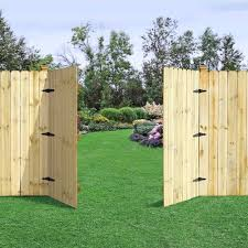 Dog Eared Wood Double Door Gates The Fence Factory