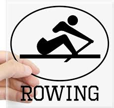 Amazon Com Cafepress Rowing Sticker Square Bumper Sticker Car Decal 3 X3 Small Or 5 X5 Large Home Kitchen