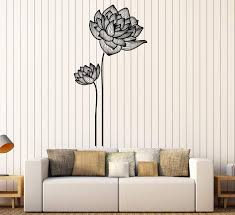 Vinyl Wall Decal Flowers Ornament Garden Decor Girls Room Stickers Uni Wallstickers4you