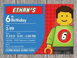 Lego Party Invites Birthday Party Invitations Free Lego Party