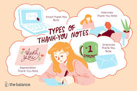 sample thank you notes and email messages