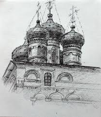 Графика : Церковь. Автор Инга Леонидовна Григоренко