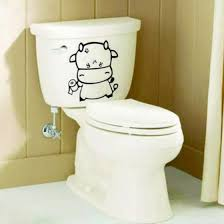 Shop Ox Toilet Wc Funny Bathroom Seat Decor Removable Vinyl Sticker Wall Decal Diy Online From Best Sports Apparel On Jd Com Global Site Joybuy Com