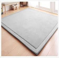 Amazon Com Eanpet Soft Tatami Mat 5 X 7 Area Rug Pad Non Slip Memory Foam Carpet Large Playmats For Kids Crawling Mat Anti Skid Doormats Living Room Bedroom Mat Women Gym Mat Grey Furniture