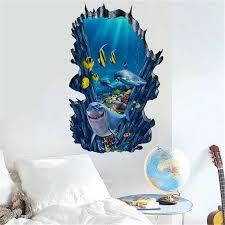 Shark Ocean Wall Stickers 3d Diy The Underwater World Removable Wall Decal Sticker Wallpaper Mural Art Home Bedroom Decor 2018 Bedroom Decor Sticker Wallpaperocean Wall Sticker Aliexpress