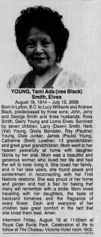 Obituary for Tami Ada YOUNG Smith, 1914-2006 - Newspapers.com