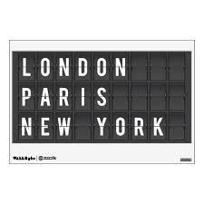 London Paris New York Wall Decal Zazzle Com