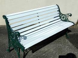refurbished vintage garden bench in