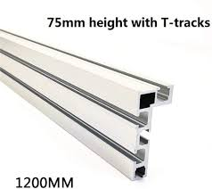 T Slot Track Aluminum Woodworking Backer Saw For Woodworking Diy Workbench For Fence 75mm Height With T Tracks Amazon Co Uk Health Personal Care
