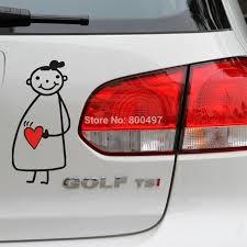 Newest Design Funny Car Sticker Pregnant Girl Mama In Car Decal For Toyota Chevrolet Volkswagen Tesla Honda Hyundai Kia Lada Decal Paper For Ceramics Sticker Windowsdecal Car Stickers Aliexpress