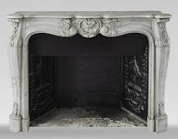 louis xv style mantel in carrara marble
