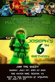 Joseph S Ninjago Birthday Party Invitacion Cumpleanos Nino