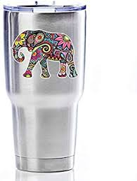 Amazon Com Elephant Sticker Small Colorful Decal By Megan J Designs Laptop Sticker Window Car Decal Vinyl Sticker Automotive