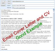 email cover letter and cv sending