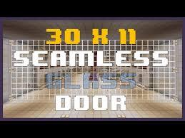 minecraft 30x11 seamless glass door