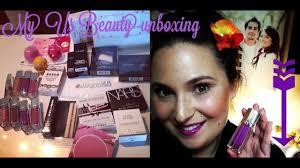 us makeup beauty haul un boxing