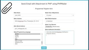 with attachment in php using phpmailer