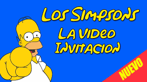 Los Simpsons Video Invitacion Animada Youtube
