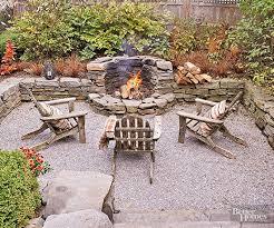 gravel patios rustic outdoor