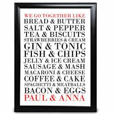 personalised we go together like food
