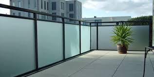 aluminium post glass barade