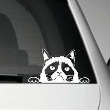 Grumpy Cat Peeper Jdm Vinyl Adhesive Car Decal Sticker Ebay