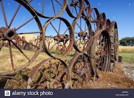 Wagon Wheel Fence Palouse Whitman County Washington State Usa Stock Photo Alamy