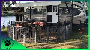 How To Safely Contain Multiple Dogs While Rv Camping Exercise Pens Youtube
