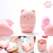 makeup sponge holder kitten beauty egg