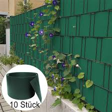 10pcs Pvc Fence Privacy Strip Gray Pvc Fence Screen Anti Uv Protection Fence Screening For Garden Balcony Awning Fencing Wind Protection Garden Privacy Protective Screens