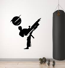 Vinyl Wall Decal Sport Athlete Fighter Martial Arts Boys Room Stickers Wallstickers4you