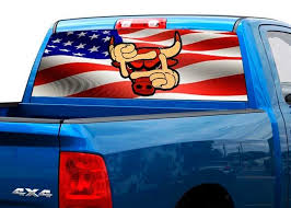 Product Chicago Bulls Basketball Team Rear Window Decal Sticker Pick Up Truck Suv Car 2