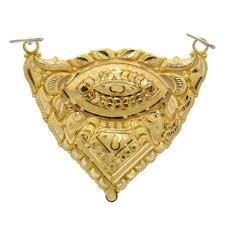 gold mangalsutra pendant स न क