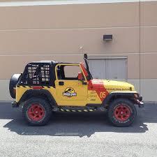 Jurassic Park Jeep Full Vehicle Kit Decals Jurassic Park Jeep Park Jeep Jurassic Park Car