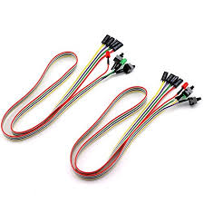 TOTOT 200pcs PC Power Switch Cable with LED Light ATX Case Front ...