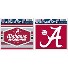 Alabama Crimson Tide Official Ncaa Automotive Car Decal 4 5x6 And Multiuse Car Decal Bundle 2 Items Walmart Com Walmart Com