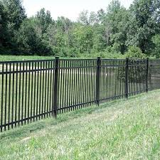 Freedom Heavy Duty New Haven 5 Ft H X 8 Ft W Black Aluminum Flat Top Decorative In The Metal Fence Panels Department At Lowes Com
