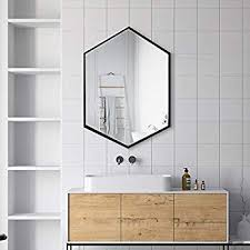 tmgy black hexagon mirror wall mounted