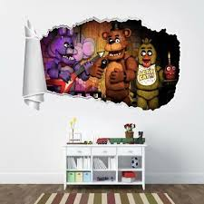 Five Nights At Freddy S 3d Torn Hole Ripped Wall Sticker Decal Art Mural Wt472 Ebay