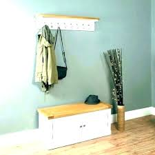 tree coat hanger with storage bench