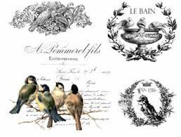 Vintage Image French Birds Labels Furniture Transfers Waterslide Decals Mis637 Ebay