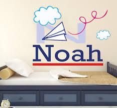 Planes Custom Name Wall Decal Vinyl Sticker Nursery Home Bedrooms Ebay