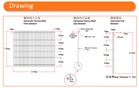 Garden Fence Panel Korea Radian Roll Top Wire Mesh Fence Rolled Top Mesh Fencing